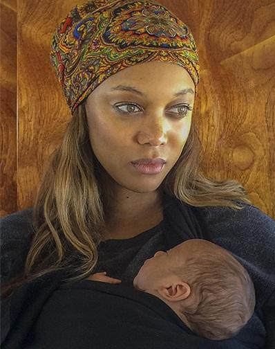 Тайра Бэнкс показала новорожденного сына