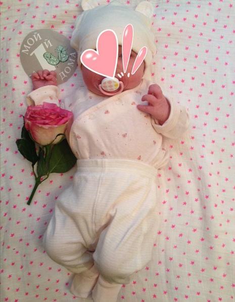Супруга Алексея Рыжова показала новорожденную дочь