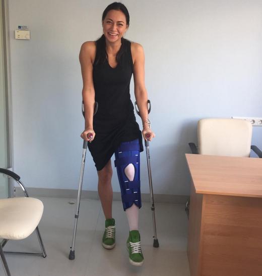 Анастасия Самбурская после травмы встала на ноги