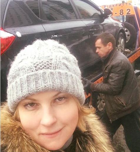 Мария Бурмака лишилась машины