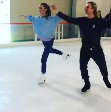 Виктория Боня покаталась на коньках в паре с Плющенко