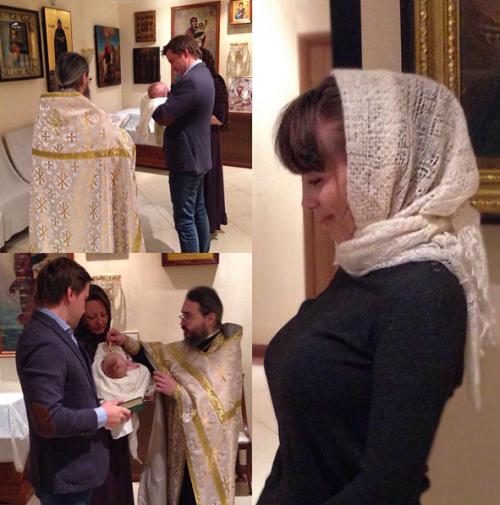 Юлия Беретта крестила сына